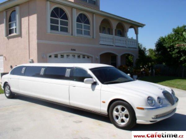 Limuzína, Limuzíny pronájem, Limuzína s řidičem, limuzína Jaguar