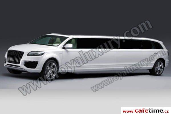 Limuzína, Limuzíny pronájem, Limuzína s řidičem, Limuzína Audi Q7