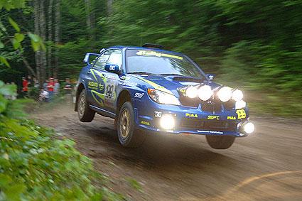 Subaru rally nehoda