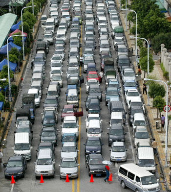 Čerpací stanice Čína