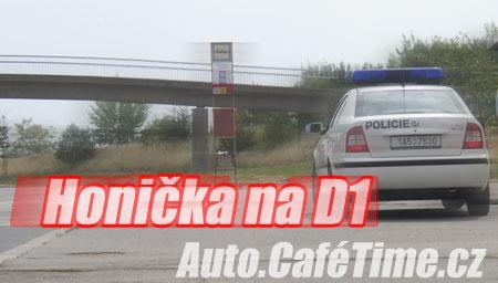 Honička na D1 zakončená nehodou